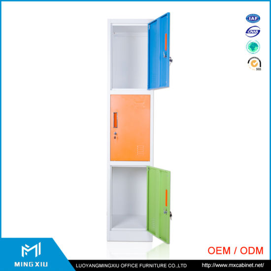 China Mingxiu High Quality Steel Wardrobe Lockers / 3 Door Metal Locker pictures & photos