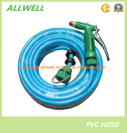 PVC Car-Washing Flexible Reinforced Fiber Braided Irrigation Water Pipe Garden Car-Washing Hose pictures & photos