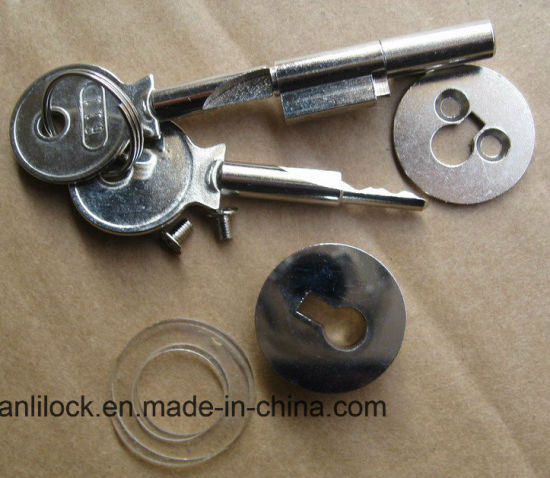 Glass Door Lock, Brass Door Lock, Glass Door Plug-in Cylinder Locks, Door Lock Al-C001 pictures & photos