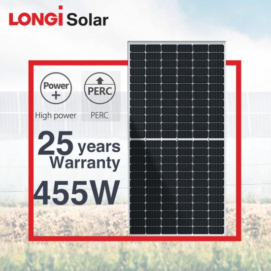 Longi Solar High Efficiency 144cells Mono Perc Solar Panel 430W 435W 440W 445W 450W 455W 460W 500W Photovoltaic Panels