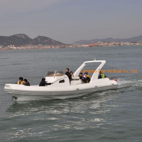 Liya Rib830 Fiberglass Inflatable Sport Yacht Large Rib Boat