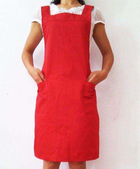 Wholesale Polyester Cotton Kitchen Waiter Work H Type Bib Apron
