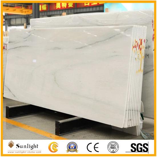 White Grey Vein Marble Tiles Columbia White Marble for Bathroom