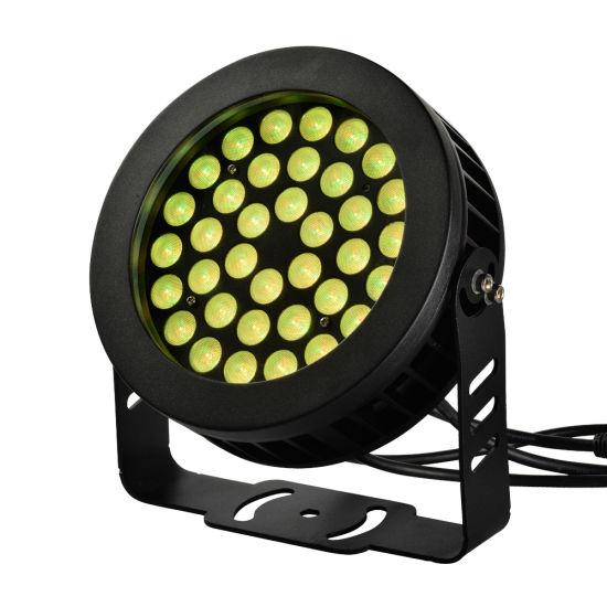 ENEC Ce ETL Approved Round Outdoor Exterior Facade Landscape IP66 Waterproof DMX512 Control 18W/24W/36W RGB LED Flood Light