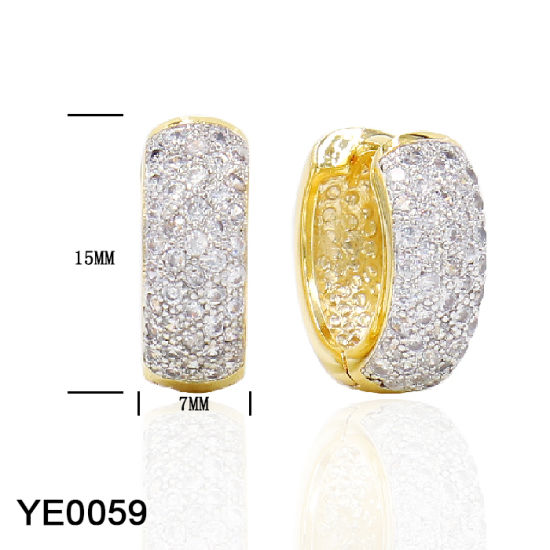 Wholesale New Model Custom Personalized Jewelry Sterling Silver CZ Earrings for Women pictures & photos