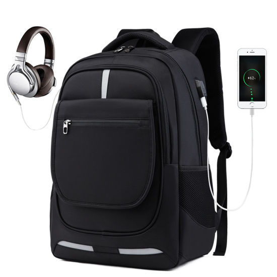 New Fashion 17 Inch Business Laptop Backpack with USB Charging Port and Earphone Port for College School Work