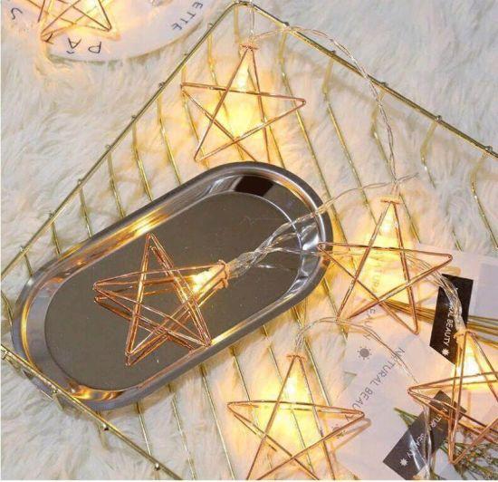 Explosive Metal Star Light LED String Light 10LED Battery Light Iron Star Decorative Light