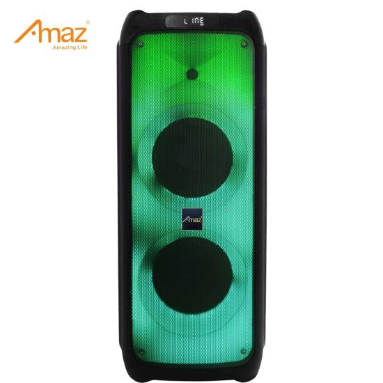 Party Speaker 2*10inch Bluetooth Wireless Partybox Amaz Al10128f Party Speaker Portable Speaker with Flame Light