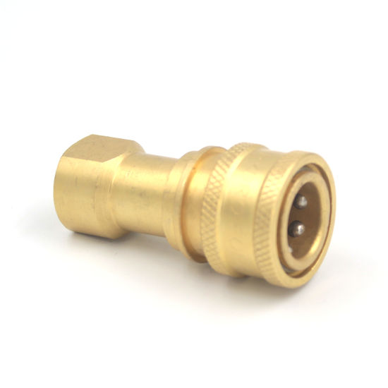 "1/4"" NPT Carpet Cleaning Vacuum Air Hose Connector Double Shut-off Brass Quick Disconnect Coupling"