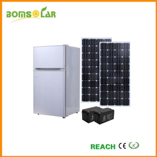 12V/24V 105L DC Solar Fridge, 75W Battery Powered Solar Refrigerator