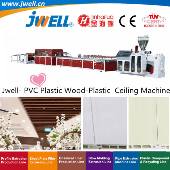 Jwell- PVC Plastic Wood-Plastic Ceiling Panel Board Profile Recycling Making Extrusion Machine with Factory Price