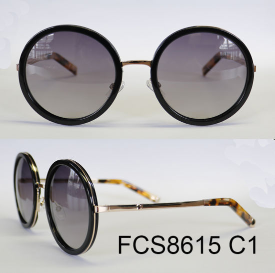 Fashionable Round Shape Acetate Eyewear Sunglasses (Ce/ FDA) pictures & photos
