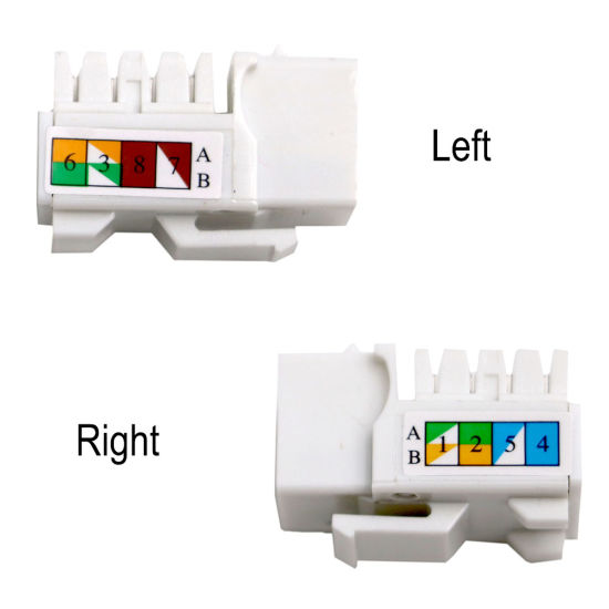 CAT6 /Cat5e UTP RJ45 Keystone Jack Female Connector Factory Wholesale pictures & photos