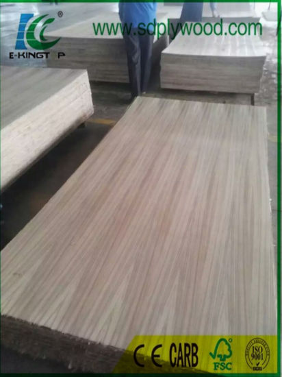 Fancy Plywood Burma Teak Straight Grain 3.6mm Hardwood Core pictures & photos