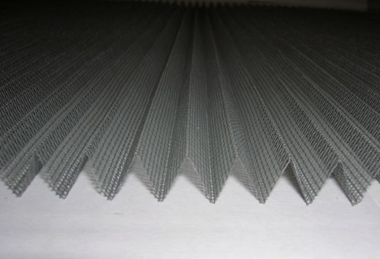 Fire Proof Pleated Invisiable Plastic Coated Fiberglass Insect Screen