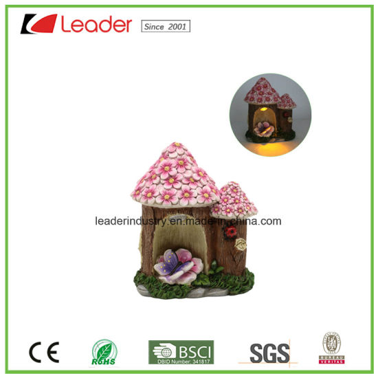Polyreisn Mushroom Fairy Garden Miniature Crafts with Solar Light for Home Decoration and Garden Decoraiton pictures & photos