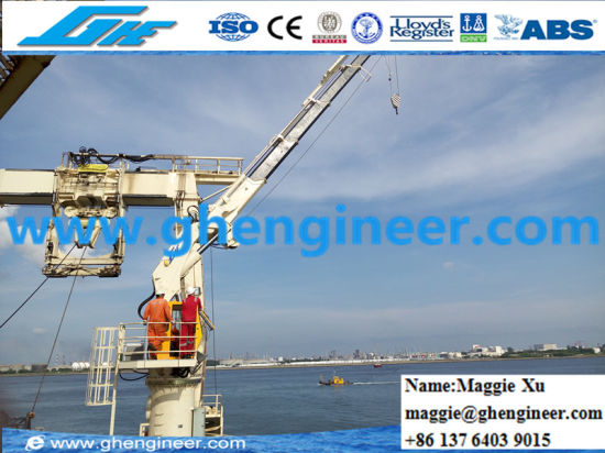 Electric Knuckle Telescopic Boom Hydraulic Marine Jib Crane pictures & photos