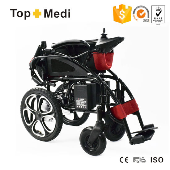 Topmedi Hadicapped New Design Batter Power Wheelchair pictures & photos