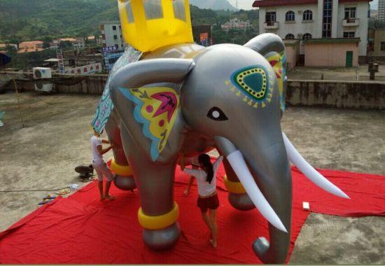 2019 New Advertising Inflatable Helium Flying Elephant Balloon
