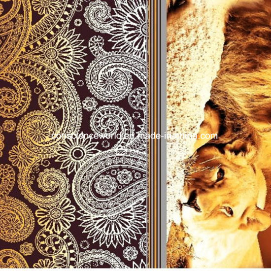 100%Polyester Lions and Leopards Pigment&Disperse Printed Fabric for Bedding Set pictures & photos