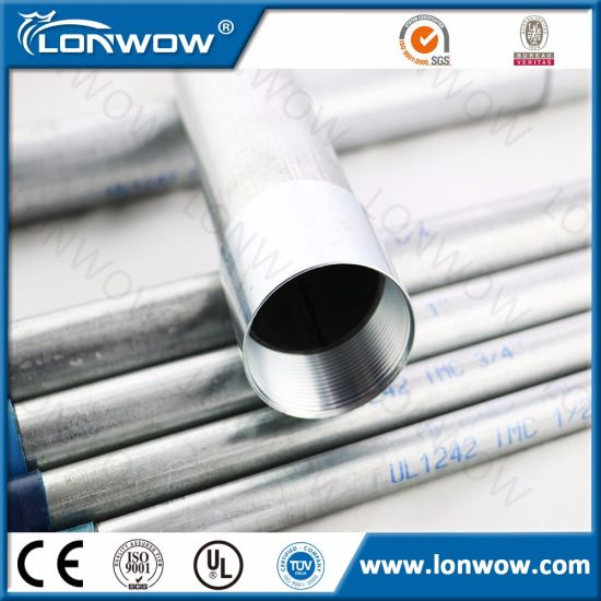 UL Listed Intermediate Steel Conduit for Protecting Wire and Cables