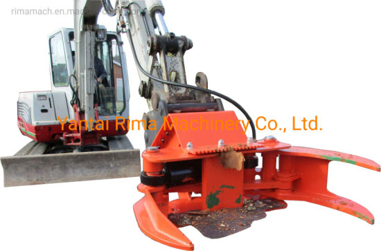 Excavator Attachment Tree Shear for Sale / Hydraulic Grapple Cutter