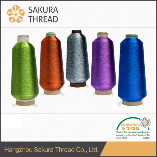 Good Quality Metallic Thread in China Factory for Embroidery pictures & photos