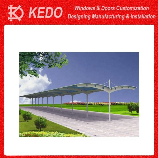 Steel Structure Tensile Membrane Fabric Canopy Awning Carport Tents Car Garage Awning