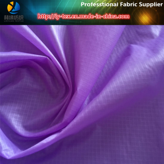 410t Nylon Taffeta 0.25cm Ripstop Fabric for Garment pictures & photos