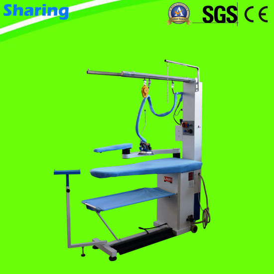 Dry Clean Steam Iron Table for Laundry Shop and Hotel