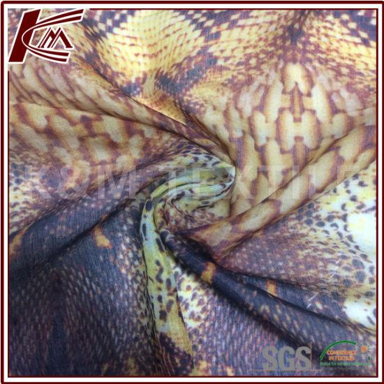 30% Silk 70% Cotton Print Chiffon Fabric