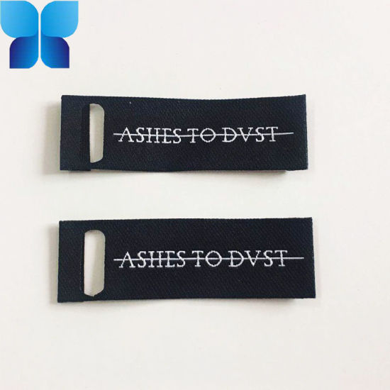 High Quality Lock Side Seam Iron on Woven Label