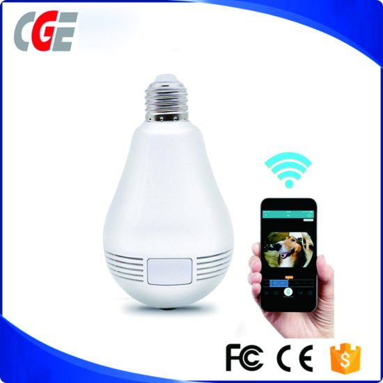 IP Camera Guard Against Theft WiFi Camera Light Bulb Fisheye The Phone APP Remote Control Lamp 360 Degree Panoramic View CCTV Camera IP Camera pictures & photos