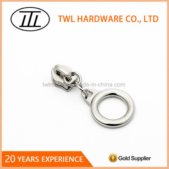 Custom Brand Logo Metal Slider Zipper Puller Design for Zipper