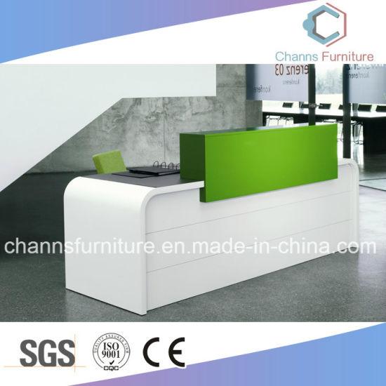 office furniture reception desk counter. Modern Counter Elegant Front Table Melamine Reception Desk Office Furniture (CAS-RD1726)