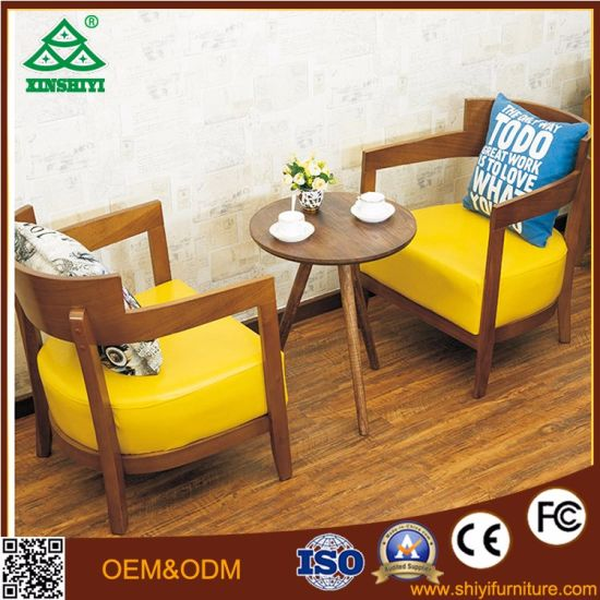 China Leather Coffee Table And Chair With Wood Dining Table Designs