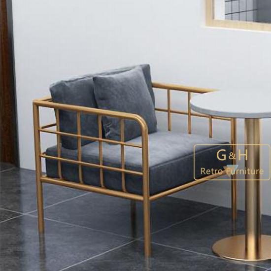New Arrival Modern Stainless Steel Frame Loveseat Fabric Sofa