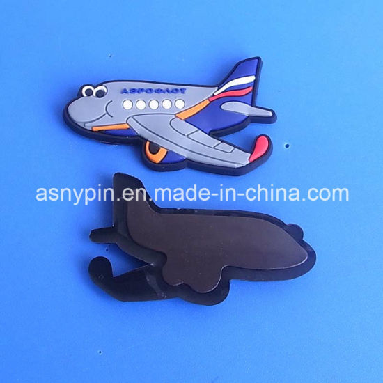 Custom Cute 3D Cartoon Arirplane Shaped PVC Fridge Magnet pictures & photos