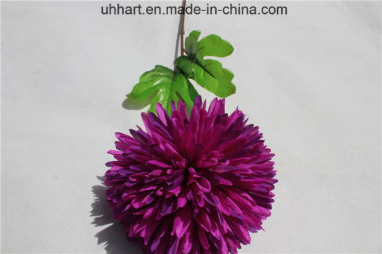 China Long Stem Artificial Silk Hydrangea Flower Fake Ball For