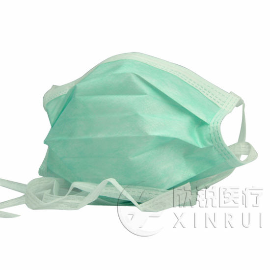 3-Ply Non-Woven Medical Supply Disposable Surgical Face Mask with Tie-on Bands