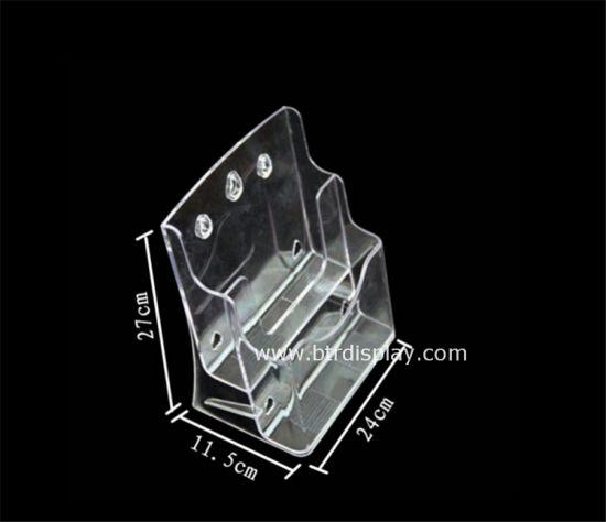 Clear Plastic A4 2 Tires Brochure Holder Manufacturer