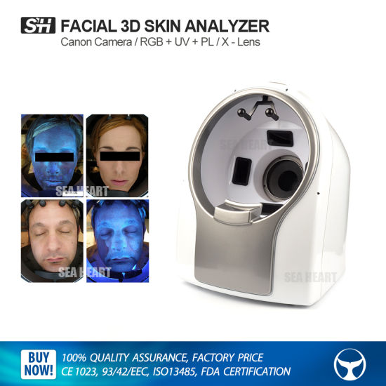 China Professional 3D Facial Skin Test Analyzer Machine with