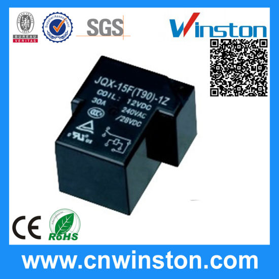 JQX-15F DC 24V Coil Voltage SPDT 6 Pin Electromagnetic Power Relay
