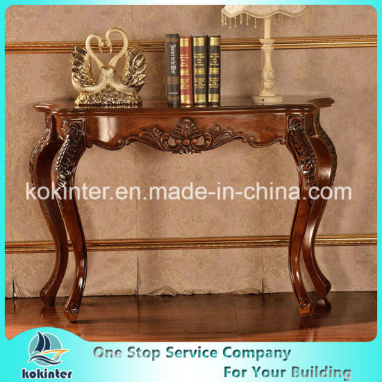 Solid Wood Entrance Table/Cabinets Oak/Birch/Rubber Wood Slide Table