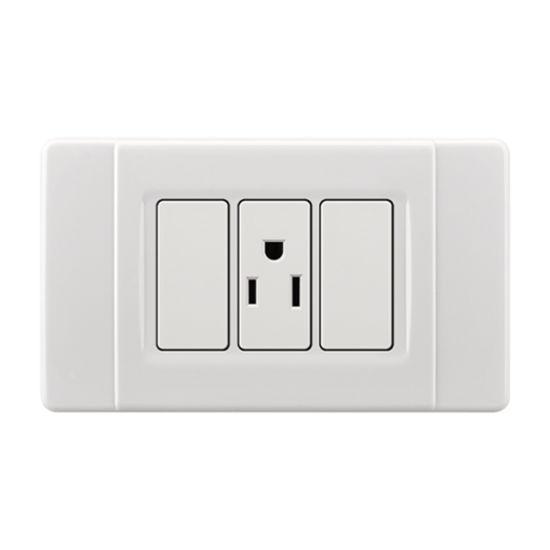 1 Gang 3 Pin Electrical Wall Switch Socket