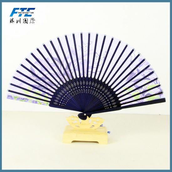 Custom Wholesale Price Promontional Hand Held Fan Wooden Fans