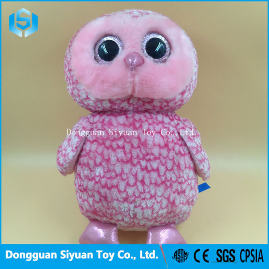 Ty Beanie Boos Pinky Pink Barn Owl Plush Toy pictures & photos