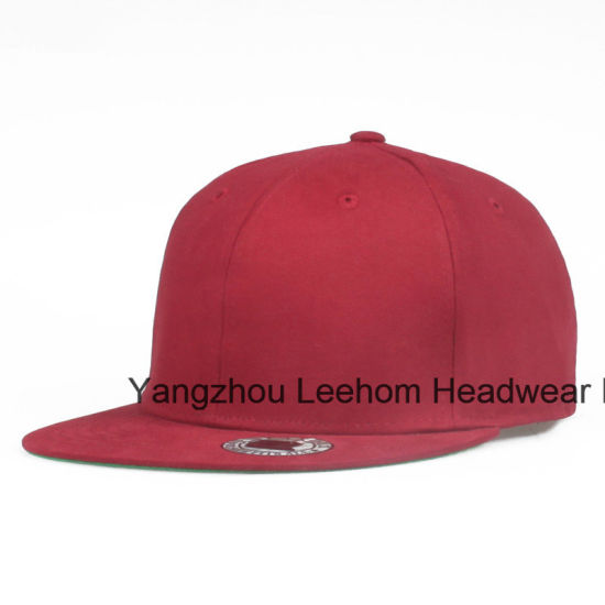 Promotional Cotton Wool Blend Flat Brim Fitted Snapback Plain Cap pictures & photos