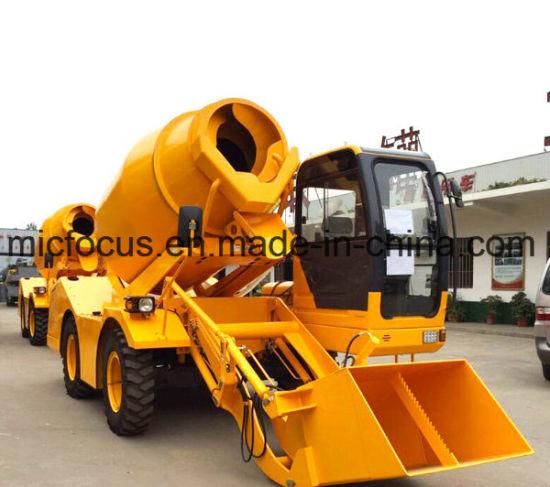 1.6m3, 4m3 Auto Charging Concrete Mixer Truck