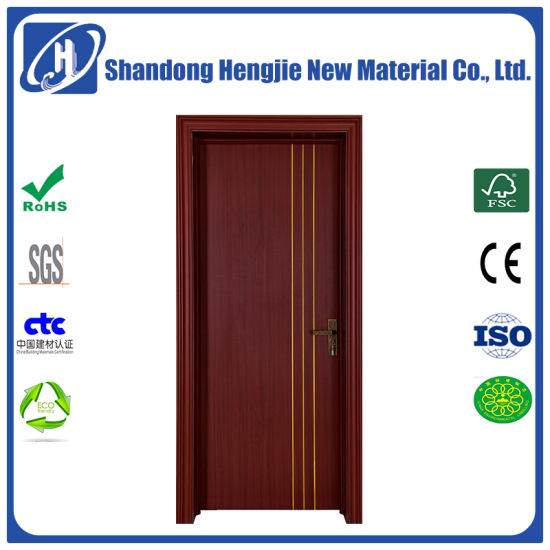 China Solid Soundproof Wood Plastic Composite Entry Door China